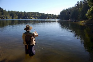 Man Fishing At Goss Lake